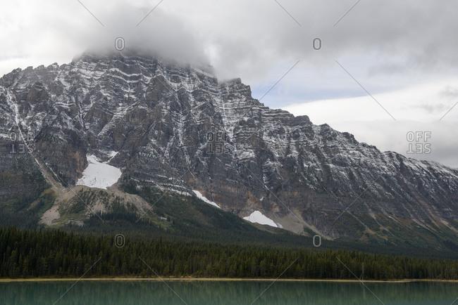Jasper National Park, Alberta, Rocky Mountains, mountain, shore, lake