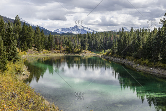 Valley of the Five Lakes, Alberta, national park, Rocky Mountains, lake, turquoise, surface, water