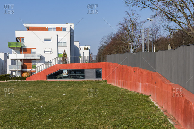 Residential area at Rothpark, Waiblingen, Baden-Wuerttemberg, Germany
