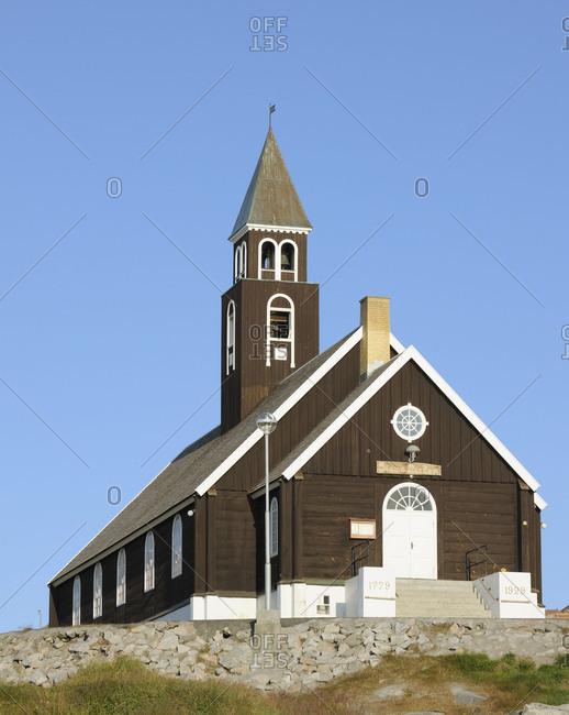 Zion church, Ilulissat, Icefjord, Disko Bay, Qaasuitsup, Greenland, Polar Regions, Arctic