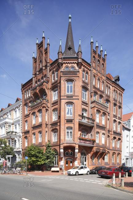 Old residential building in Bedeckerstrabe, Hannover, Lower Saxony, Germany, Europe