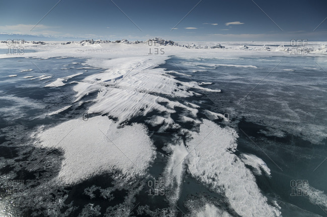 Russia - April 26, 2018: Asia, Russia, Siberia, Buryatia, Irkutsk Oblast, Lake Baikal.