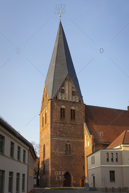 Germany, Mecklenburg-Vorpommern, Robel, church, St. Nikolai, church tower