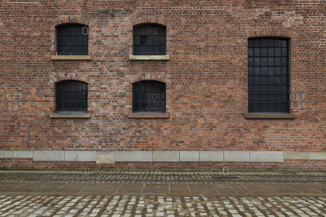 Europe, England, United Kingdom, Liverpool - Albert Dock, old building facade