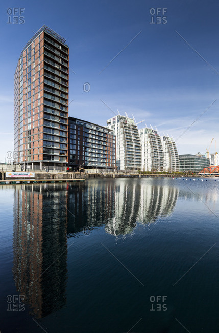 Europe, England, United Kingdom, Manchester - Media City Centre - The BBC Centre and Media City at Salford Quays