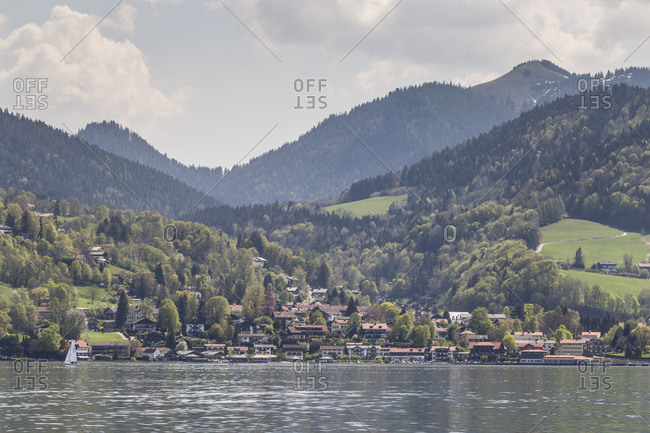 Germany, Bavaria, Tegernsee, Alps, View from Bad Wiessee