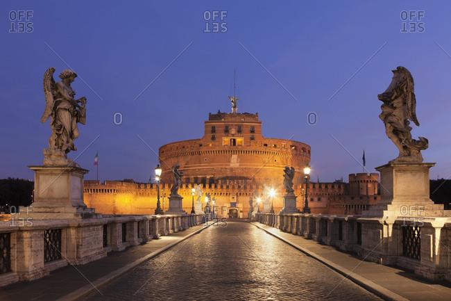 Italy - June 27, 2018: Castel Sant'Angelo and Angel Bridge, Rome, Lazio, Italy