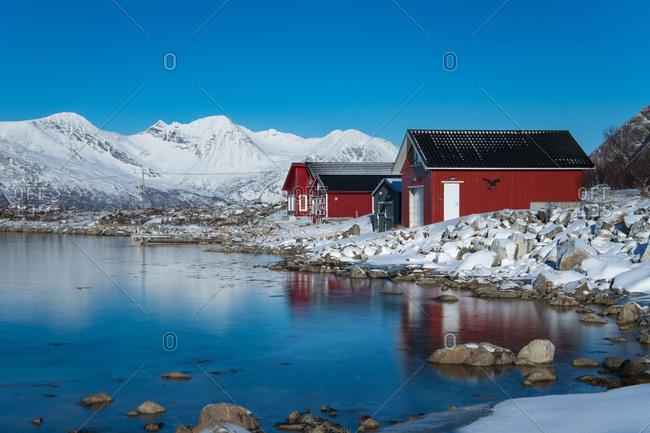 Europe, Norway, Troms, Grotfjord, life at the fjord