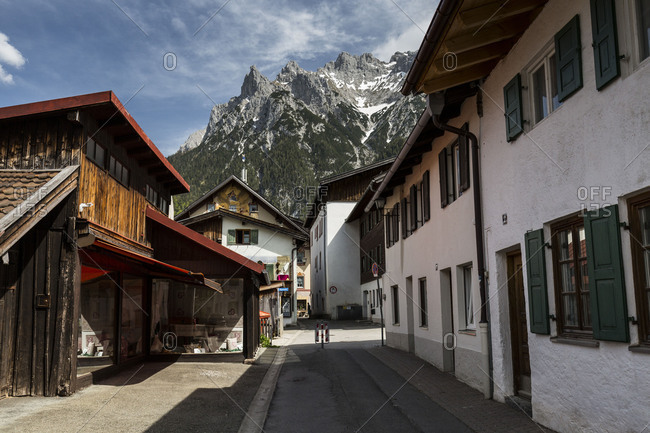 Germany - June 28, 2018 - Germany, Bavaria, Mittenwald, Karwendel mountains
