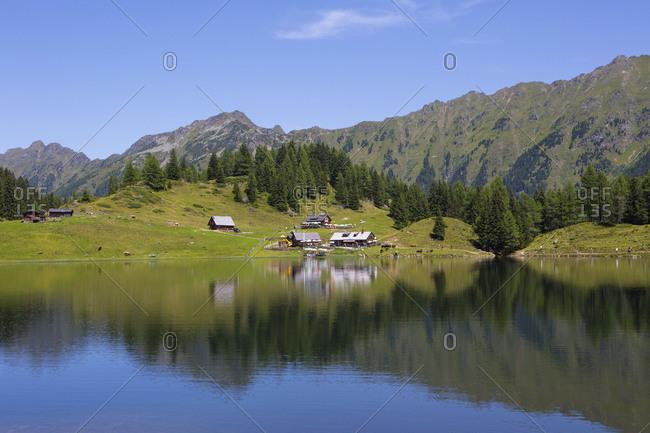 Austria, Styria, Schladming, Obertal, Duisitzkarsee, mountain lake, Duisitzkar hut, Fahrlechner hut, Schladminger Tauern,