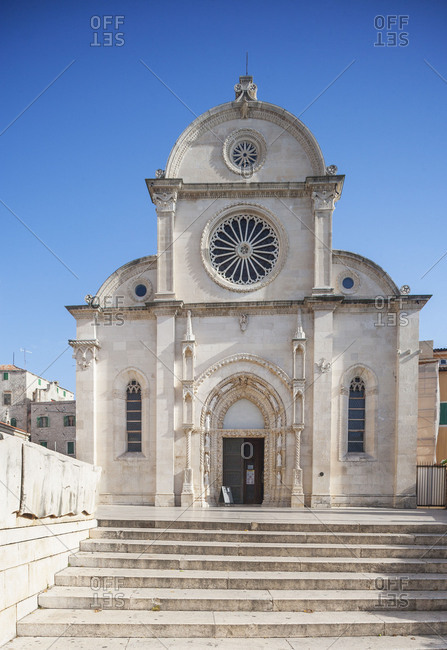 Croatia, Dalmatia, Central Dalmatia, Sibenik, Cathedral of Saint Jacob, UNESCO World Heritage,
