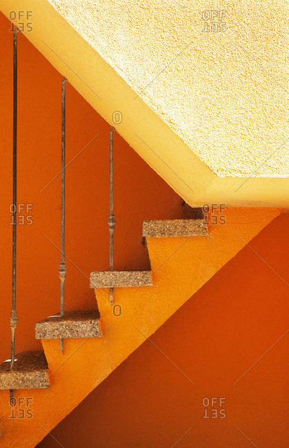 Croatia, Kvarner Bay, Krk Island, Baska, old town, stairs, detail,