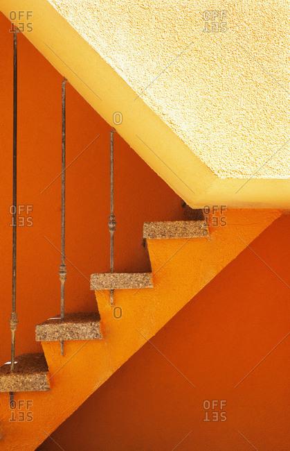Croatia, Kvarner Bay, Krk Island, Baska, old town, stairs, detail,