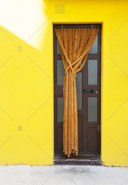 Croatia, Kvarner Bay, Krk Island, Baska, front door, detail,