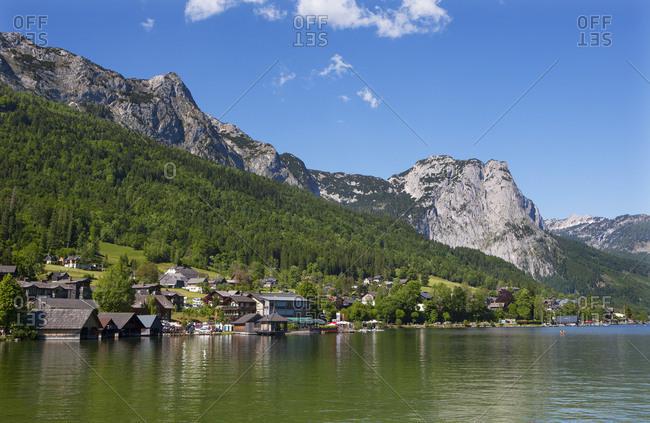 Austria, Styria, Salzkammergut, Ausseerland, Grundlsee, Totes Gebirge, Backenstein 1772m,