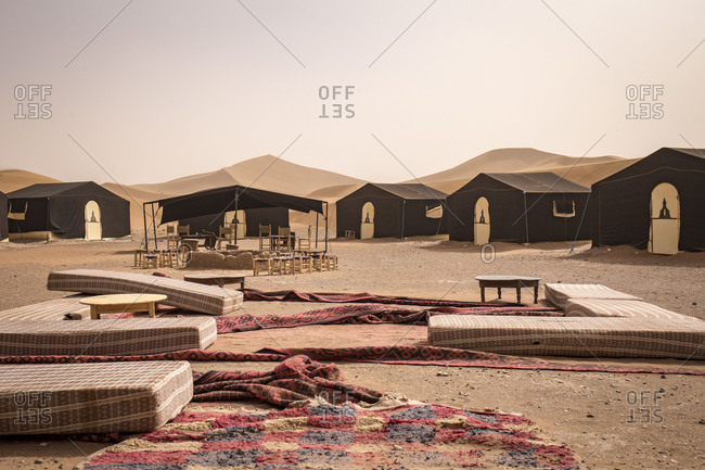 Camp in Erg Chegaga of 'Sahara Services'