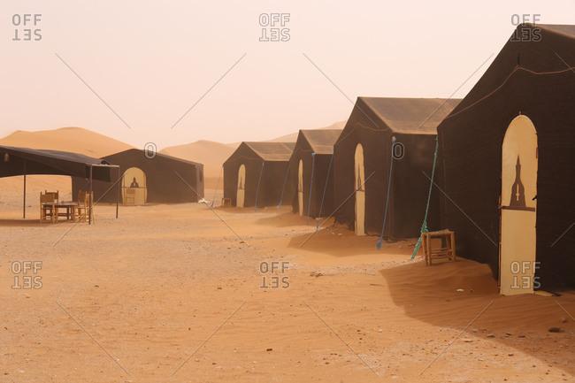 Camp in Erg Chegaga of 'Sahara Services'