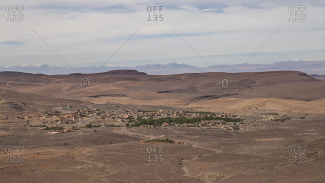 Morocco, Tizi n'Tinififft, travel route along road N9