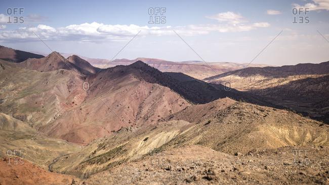 Morocco, road N9, Taddart, landscape, nature