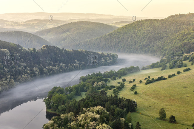 Solenicka Podkova, the Czech Horseshoe Bend on the Vlatva river, Solenice, Central Bohemia, Czech Republic