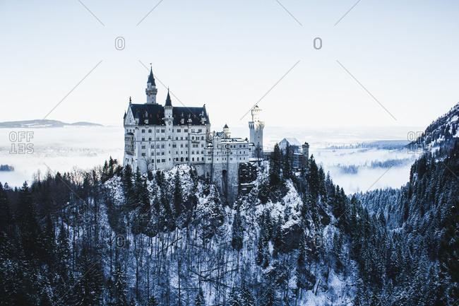 Germany, Bavaria, Allgau, Hohenschwangau, Neuschwanstein Castle