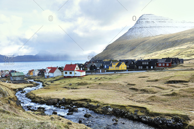 Faroe Islands, View of Thorshavn, Harbor