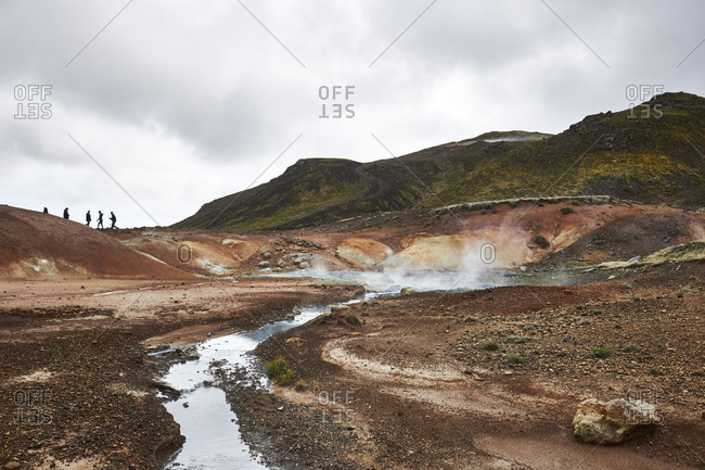 Iceland, Seltun the Geothermal Area at Krysuvik on the Reykjanes Peninsula