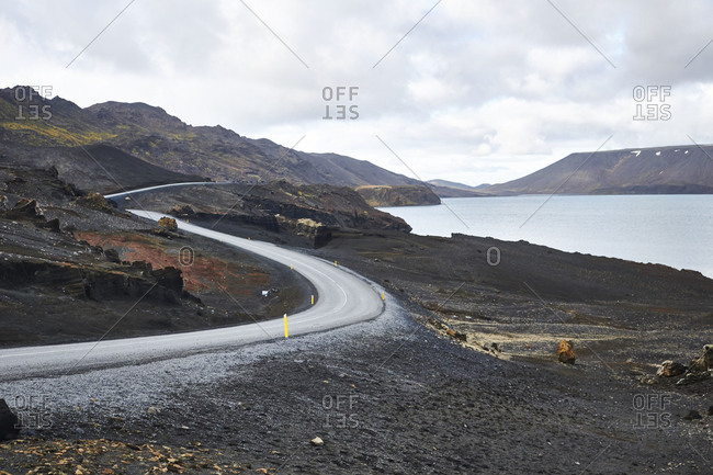 Iceland, road through Krysuvik on the Reykjanes Peninsula
