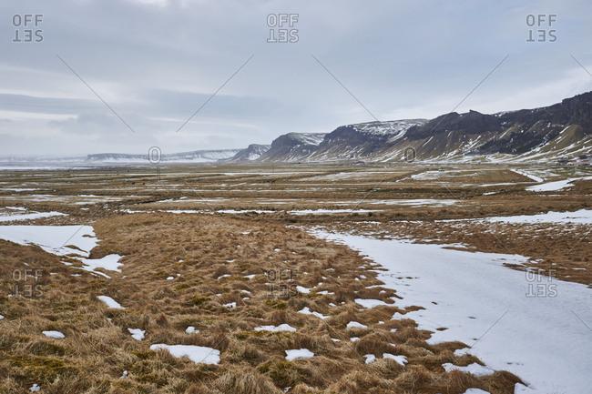 mountain range in Iceland eastfjord,