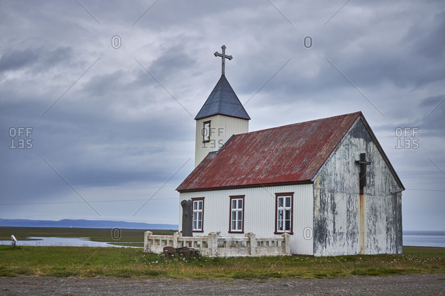 remote old church in northern iceland