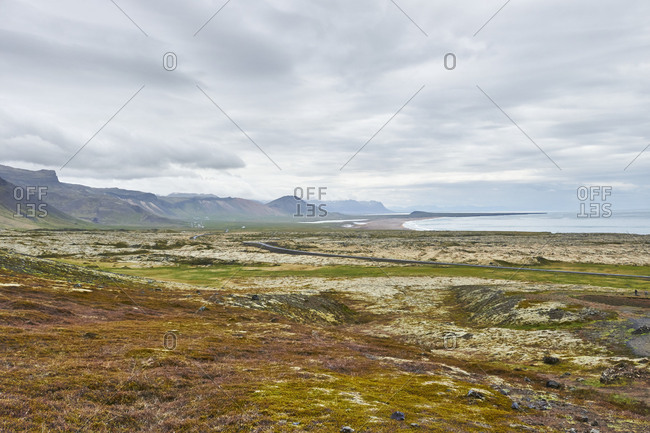 west Iceland, landscape on the peninsula snaefellsnes,