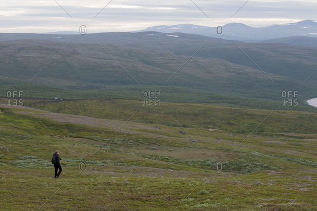 Hiking on the fells, Lapland, Finland