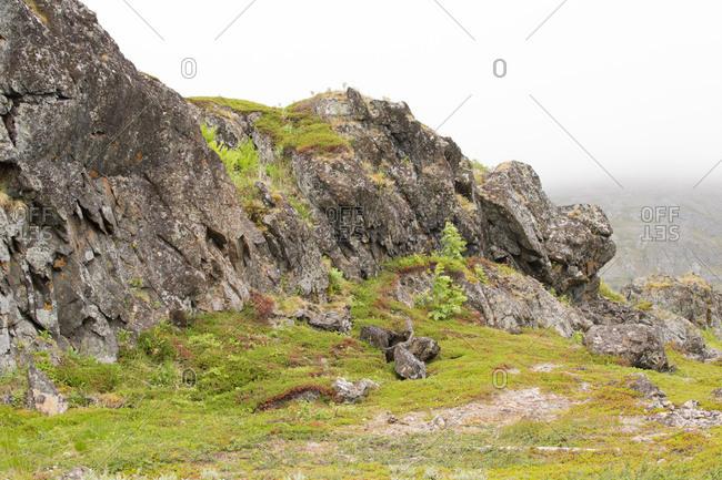 Rocky landscape, Kongsfjord, Finnmark, North Norway