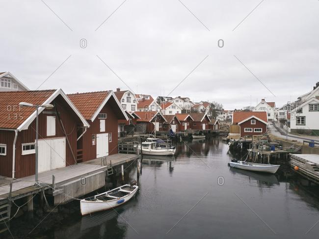 Fishing huts and houses at sea