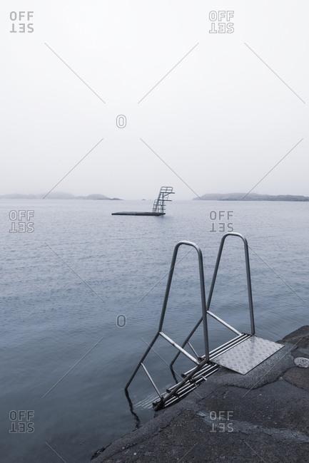 Ladder at sea