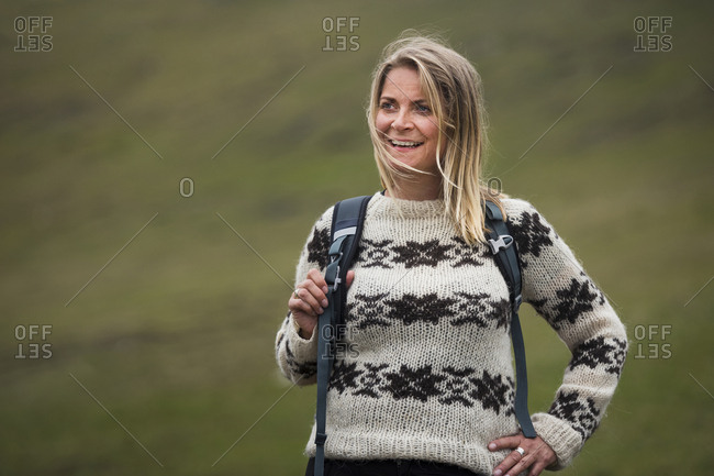 Smiling female hiker