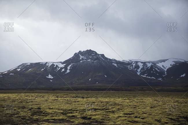 View of snowcapped mountains