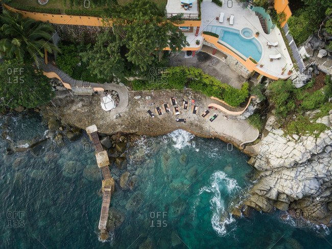 Mexico- Jalisco- Mismaloya near Puerto Vallarta- Luxury yoga retreat