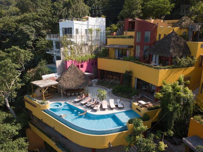 Mexico- Jalisco- Mismaloya near Puerto Vallarta- Luxury vacation villa