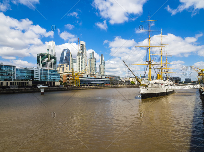 Argentina- Buenos Aires- Puerto Madero- Dock South- Frigate Sarmiento