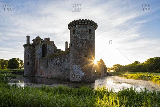 Great Britain- Scotland- Dumfries and Galloway- Caerlaverock Castle