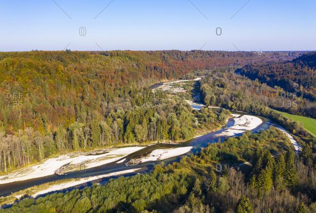 Germany- Upper Bavaria- Isar river- Nature Reserve Isarauen- between Strasslach-Dingharting and Schaeftlarn