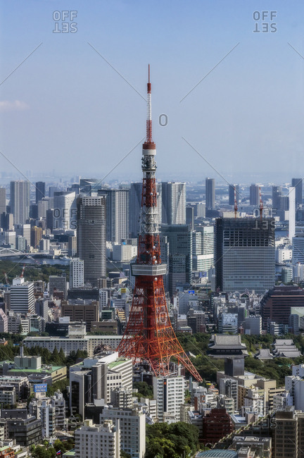 October 1, 2017: Japan- Tokyo- City view with Tokyo Tower