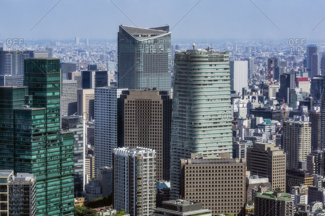 October 1, 2017: Japan- Tokyo- City view