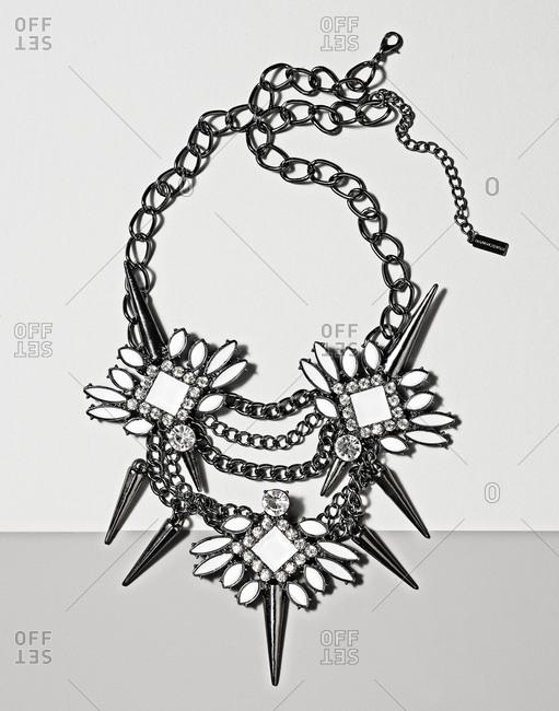 Necklace on light background