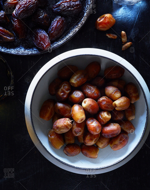 Dates in the process of drying