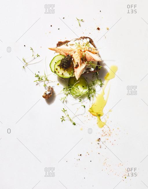 Smoked trout sandwich