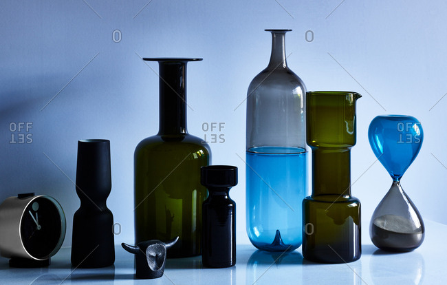 Various glass vases