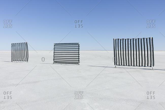 Race course barriers on Salt Flats