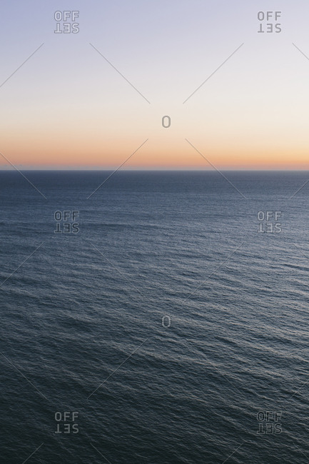 Seascape abstract at dusk